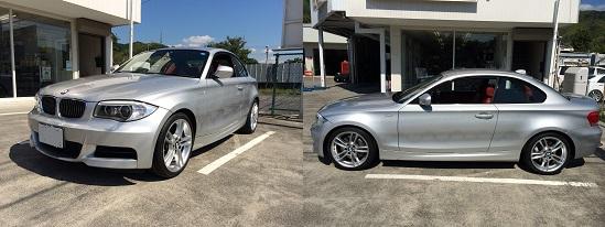 new products 57229 00c12 BMW 135i ランフラット タイヤ交換 ブリヂストン ポテンザ 静岡市 清水区 ミスタータイヤマン青山
